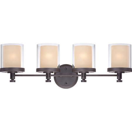400 Iron - Bathroom Vanity 4 Light With Sudbury Bronze Finish Iron Medium Base 30 inch 400 Watts