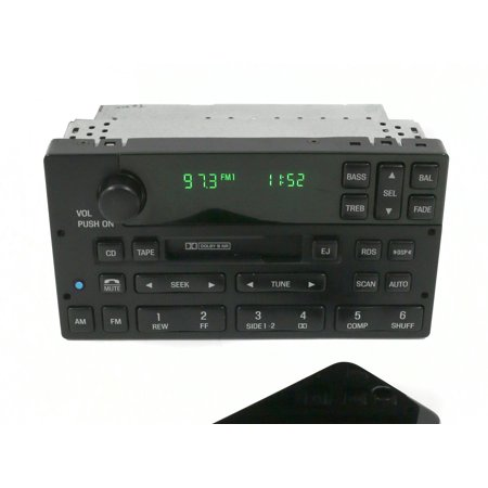 1998-2000 Lincoln Town Car AM FM Radio Cassette w Bluetooth PN F8VF-18C870-BG -