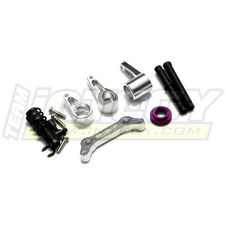 Integy RC Toy Model Hop-ups T6953SILVER Steering Bell Crank Set for HPI E-Savage
