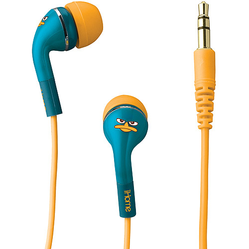 Ekids iHome Noise Isolating Earphones, Phineas and Ferb