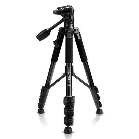 Panasonic Dslr Camera - Camera Tripod Aluminum Portable Lightweight Camera Stand with Quick Release Mount for Canon Nikon Sony Samsung Olympus Panasonic Video Camcorder DSLR DV