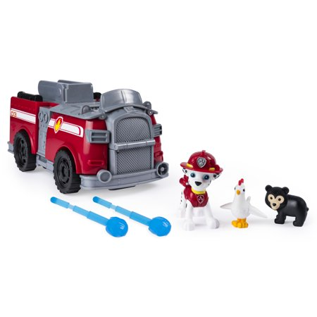 PAW Patrol, Marshall's Ride 'n' Rescue, Transforming 2-in-1 Playset and Fire Truck, for Kids Aged 3 and Up - Paw Patrol Marshall Fire Truck