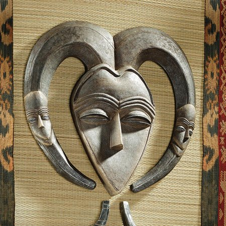 African Tribal Mask - Design Toscano African Tribal Wall Mask: Kwele