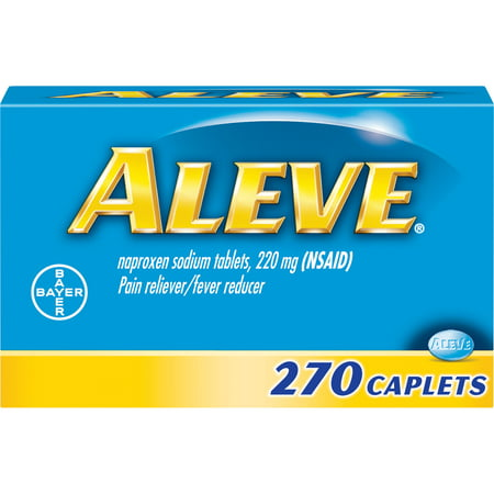 Aleve Pain Reliever/Fever Reducer Naproxen Sodium Caplets, 220 mg, 270