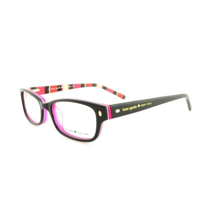 KATE SPADE Eyeglasses LUCYANN 0X78 Black Pink Striped 47MM