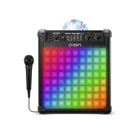 Ion Party Rocker Max Wireless Rechargeable Bluetooth Karaoke Speaker with Lights](Party Rocket)