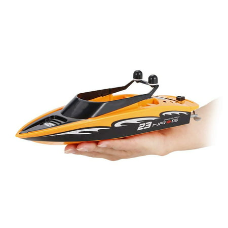FMT Speed RC Boat 2.4GHz 4-Channel Electric Powered Racing Boat Remote Control Toys For Kids, R/C Use On Lake, Pool (Color Various: Orange,