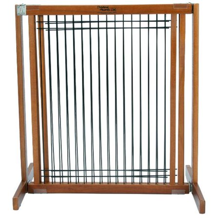 Dynamic Accents 42637 30 in. Small Kensington Wood-Wire Gate - Artisan Bronze