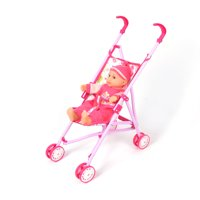 WonderPlay Kid's Doll Stroller With Doll & Sound - Pink