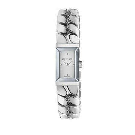 e331f0cc330 Gucci - G-Frame Silver Dial Ladies Watch YA147501 - Walmart.com