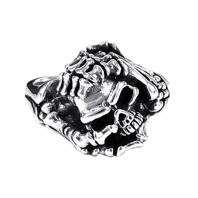 Black Spinek Statement Hash Sign 925 Silver Ring