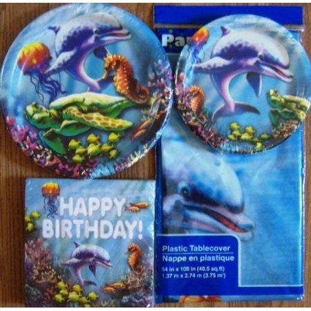 Sea Life - Party Supplies (Plates, Napkins and Tablecloth)
