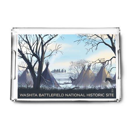 Washita Battlefield   Lantern Press Artwork  Acrylic Serving Tray