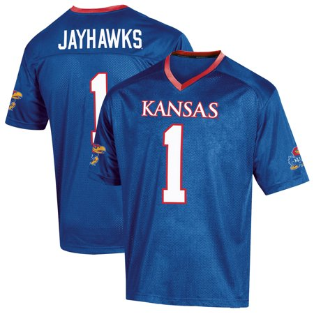 Youth Russell Royal Kansas Jayhawks Replica Football (Kansas Jayhawks Replica Football Jersey)