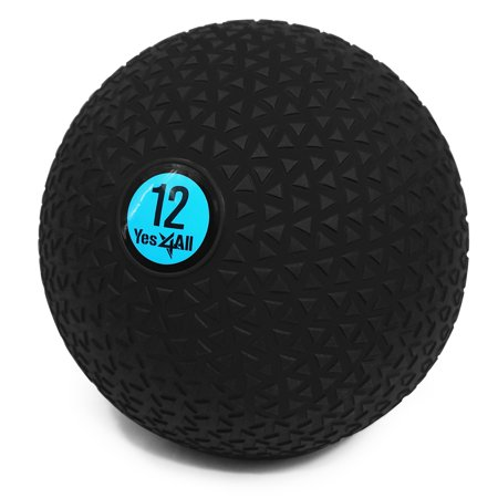 Yes4All 12lb Slam Ball / Fitness Exercise Ball for CrossFit