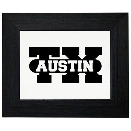 Austin, Texas TX Classic City State Sign Framed Print Poster Wall or Desk Mount Options (Party City Austin Texas)