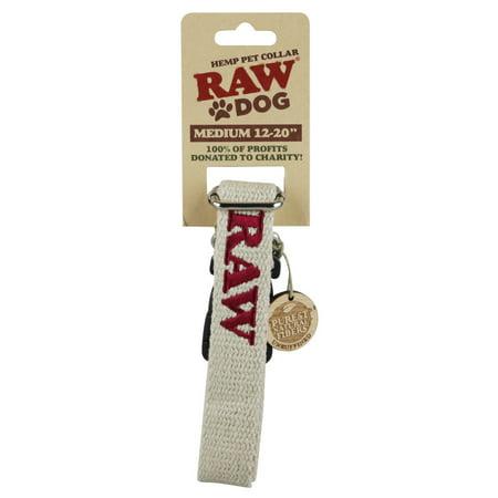 Hemp Dog Collar - Raw Dog Hemp Pet Collar - Medium