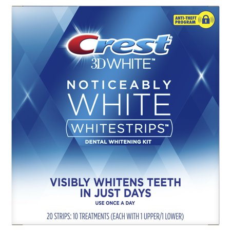 Crest Noticeably White Whitestrips Teeth Whitening Kit, 10