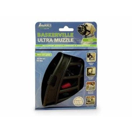 Baskerville Ultra Dog Muzzle Black, Size 6 (80-150 Lbs)