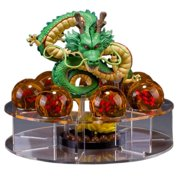 Playoly Acrylic Dragon Ball Set Z Shenron Action Figure Statue 7pcs 3.5cm Balls Stand