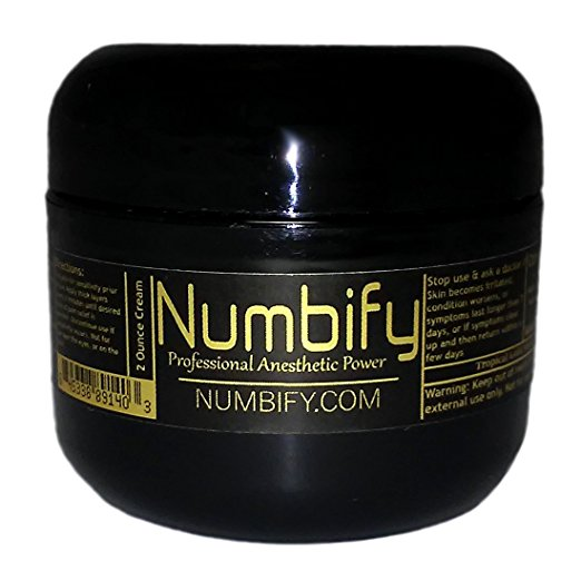 Numb-ify Numbing Cream - For Tattoo, Waxing, and Much Much More (2 Ounce)