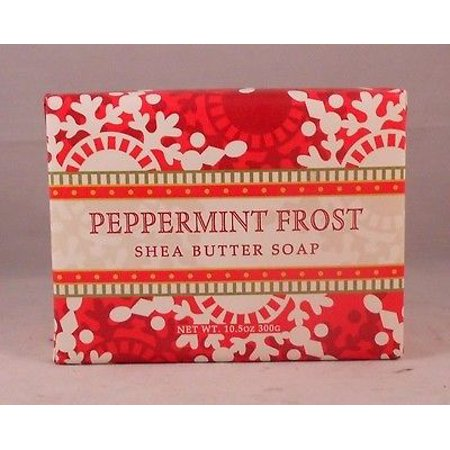 Greenwich Bay Shea Butter Luxury Spa Soap, Large 10.5 oz, Christmas Ltd Edition PEPPERMINT FROST