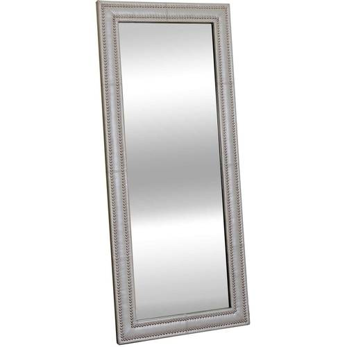 Devon and Claire Halo Leather Nailhead Floor Mirror by