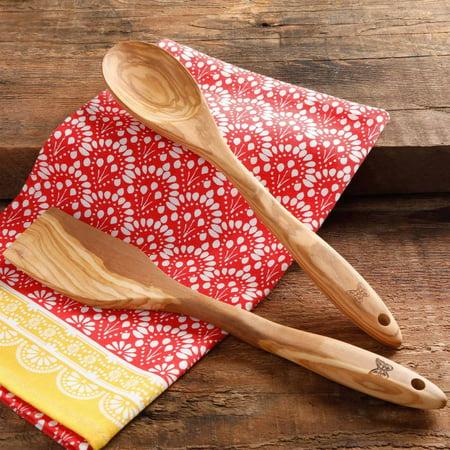 The Pioneer Woman Cowboy Rustic Turner and Spoon Set, 2-Pack](Wooden Spoons In Bulk)