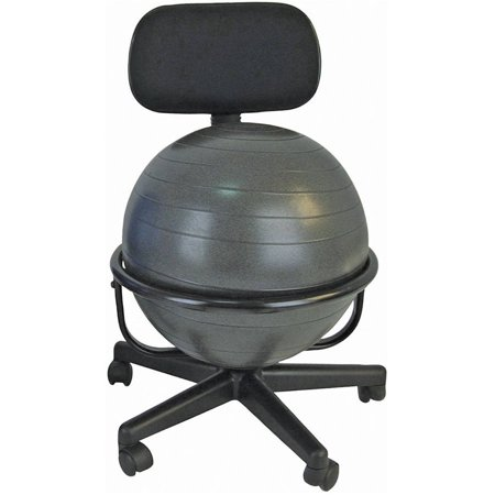 CanDo Metal Mobile Ball Stabilizer Chair Without Arms (Standard Pilot Chair)