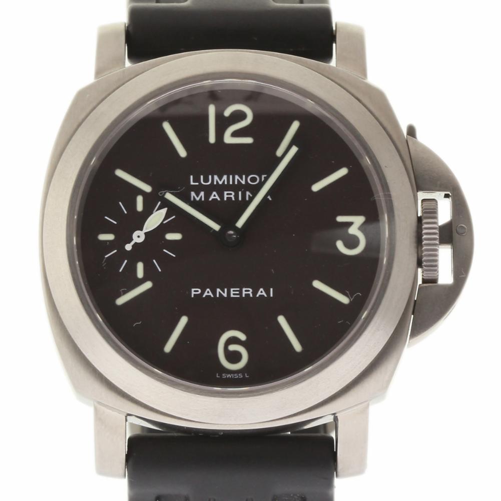 Pre-Owned Panerai Luminor PAM00061 Titanium  Watch (Certified Authentic & Warranty)