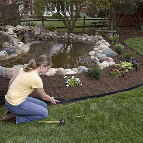 Dimex 1604BK-16C E-Z Connect Recycled Premium Landscape Edging