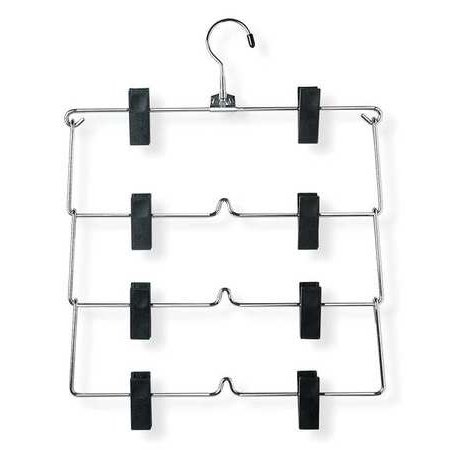 Fold Up Skirt Hanger, Chrome/Black, Metal Most of our clothing hangers are sold in packs for added convenience, so go ahead and stock up on your favorite ones. Here is some additional information about Honey-Can-Do Fold Up Skirt Hanger. Material:  metal, Finish:  Chrome/Black.