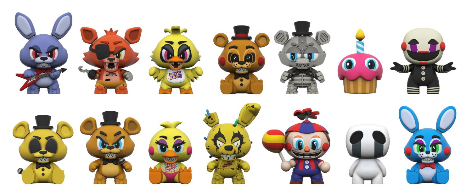 Dress up five nights at freedys - Five Nights At Freddy S Mystery Mini One Mystery Figure Action Cupcake Set 25 Set Complete One Glow Slap The Funko 112 Toys Mini Balloon Piece Of