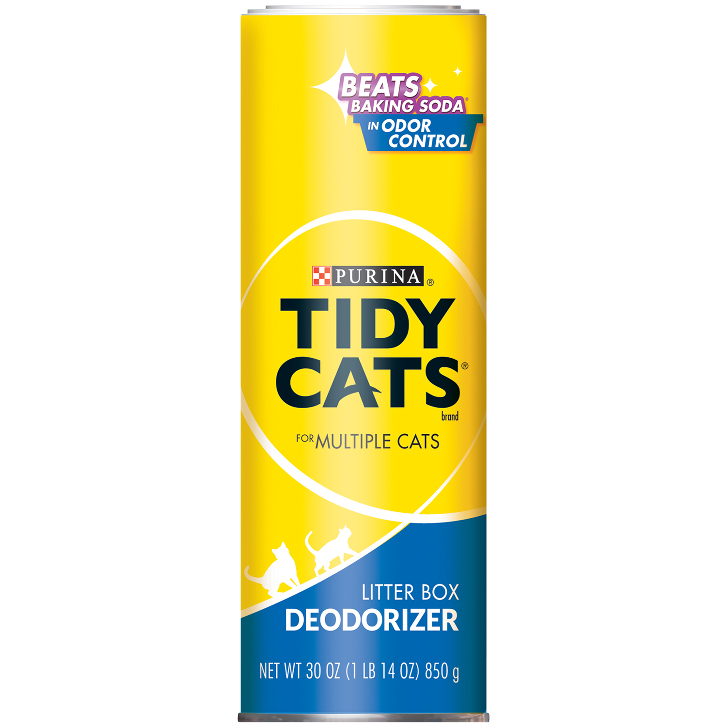 Purina Tidy Cats Litter Box Deodorizer for Multiple Cats 30 oz. Canister