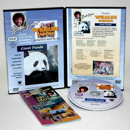 Weber Bob Ross DVD Wildlife Painting Giant Panda
