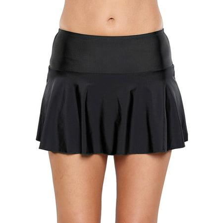 High Waist Swim Skirt with Briefs for Women M-XXL Plus Size Pleated Swimdress Swim Bottoms Shorts Panties Pants Swimwear Swimsuit Swimming Bathing Suit Beachwear