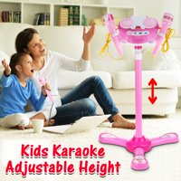 Digital Kids Karaoke Microphone Musical Toys Disco MP3 Player Speaker Adjustable Stand Aplause + Cheers External Music Function & Flashing Light Gifts For Kids Christmas Gifts