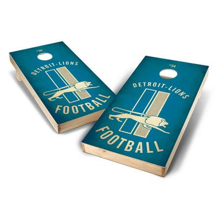 Detroit Lions Coin Card - Detroit Lions 2' x 4' Nostalgia Design Cornhole Board Set - No Size