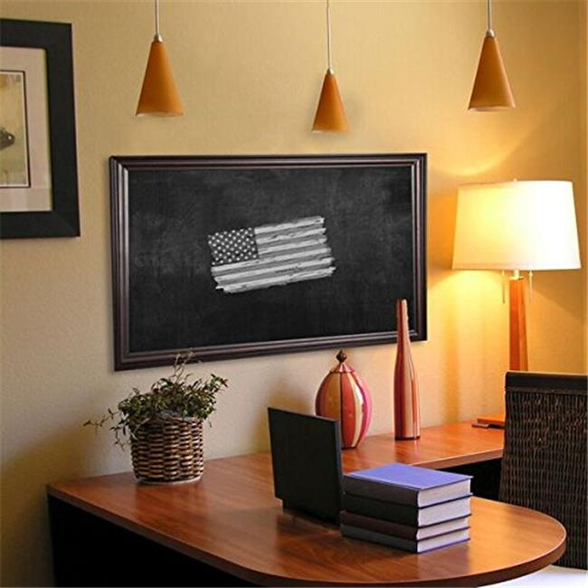 Rayne Mirrors B301818 American Made American Walnut Blackboard & Chalkboard, 22 x 22 in.