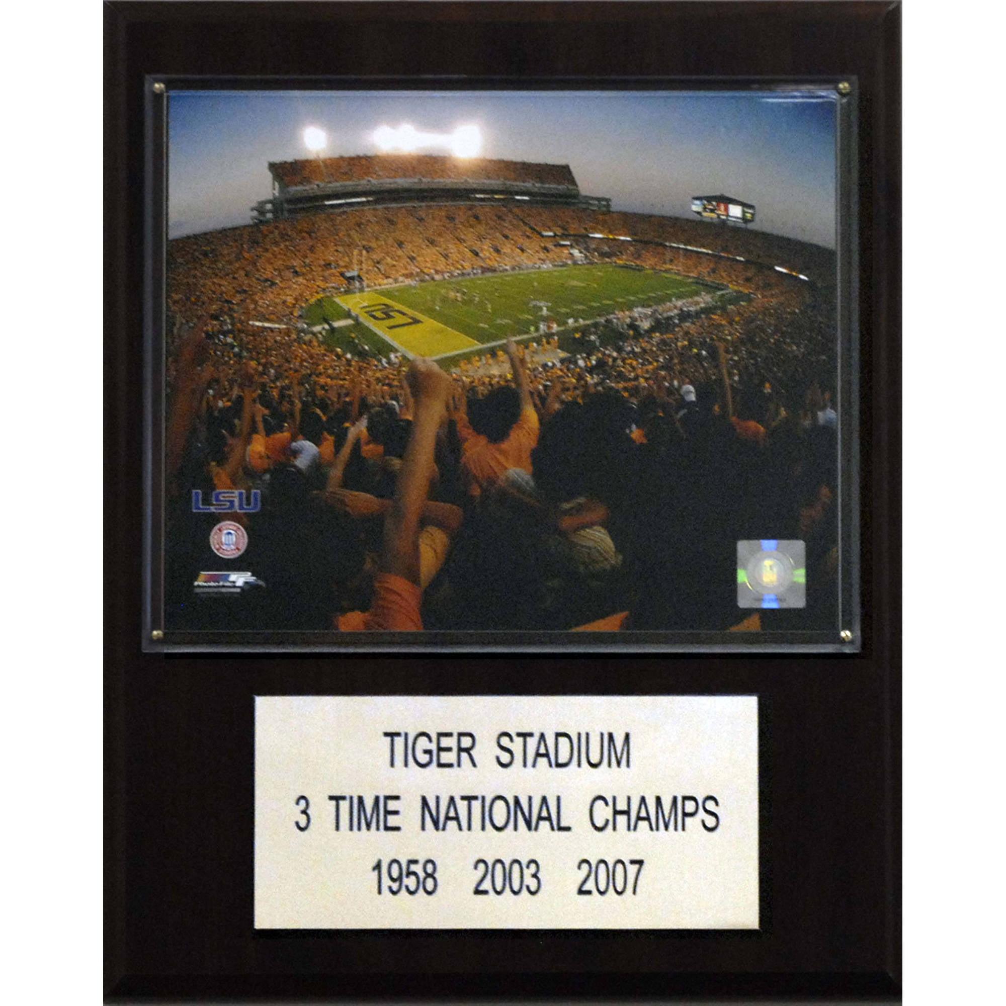 C&I Collectables NCAA Football 12x15 Tiger Stadium Stadium Plaque