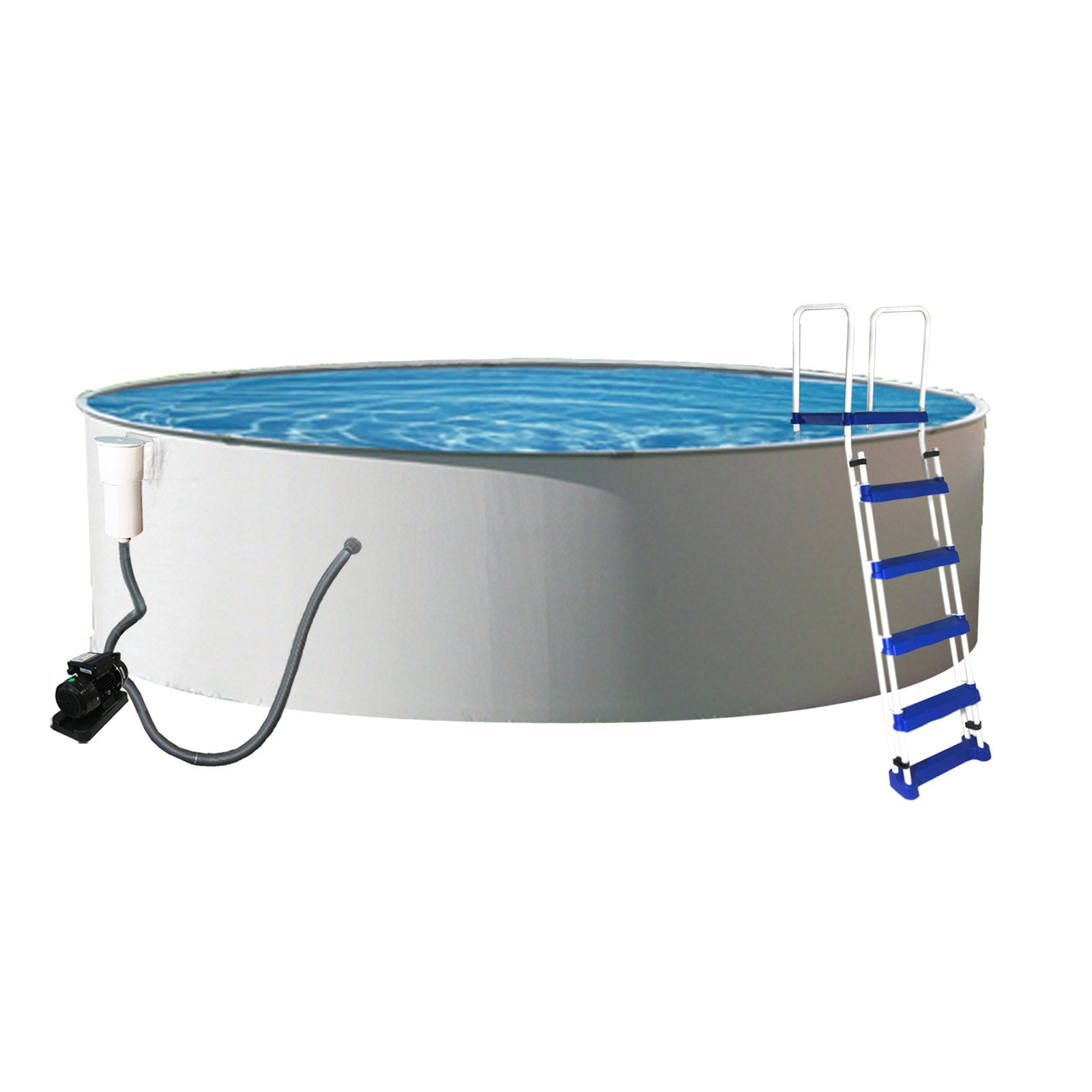 """Blue Wave Presto Round Metal Wall Swimming Pool Package, 52"""" Deep by Blue Wave Products"""
