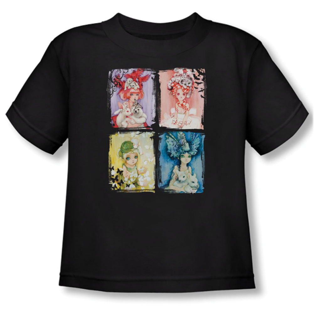 Helmetgirls Boys' Back To Nature Childrens T-shirt Black