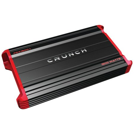 crunch 1500 watt 1 channel amplifier car audio monoblock amp + remote| pzx1500.1 (1500 Watt Kicker Amp)