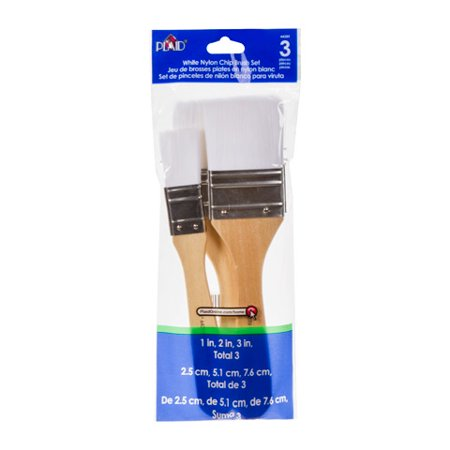 Plaid White Nylon Assorted Chip Brush Set, 3 - Supreme Paint Brush