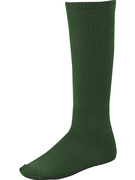 Twin City Senior Youth All Sport Solid Color Tube Sock, Black