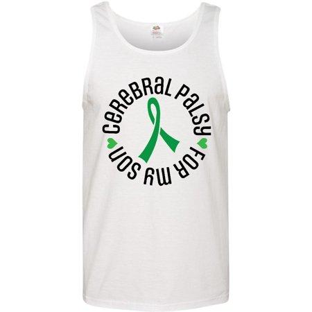 Cerebral Palsy Ribbon (Cerebral Palsy Son Support Ribbon Men's Tank)