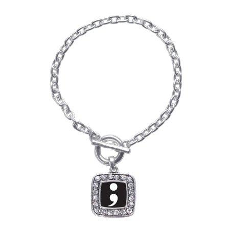 Semicolon Movement Classic Charm Toggle Bracelet