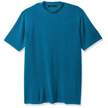 Bugatchi Men's Classic Fit Durable Microfiber Short Sleeve Crew Neck, Turquoise, M - image 1 of 1