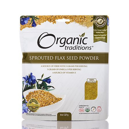 Sprouted Flax Seed Powder - 8 oz (227 Grams) by Organic Traditions