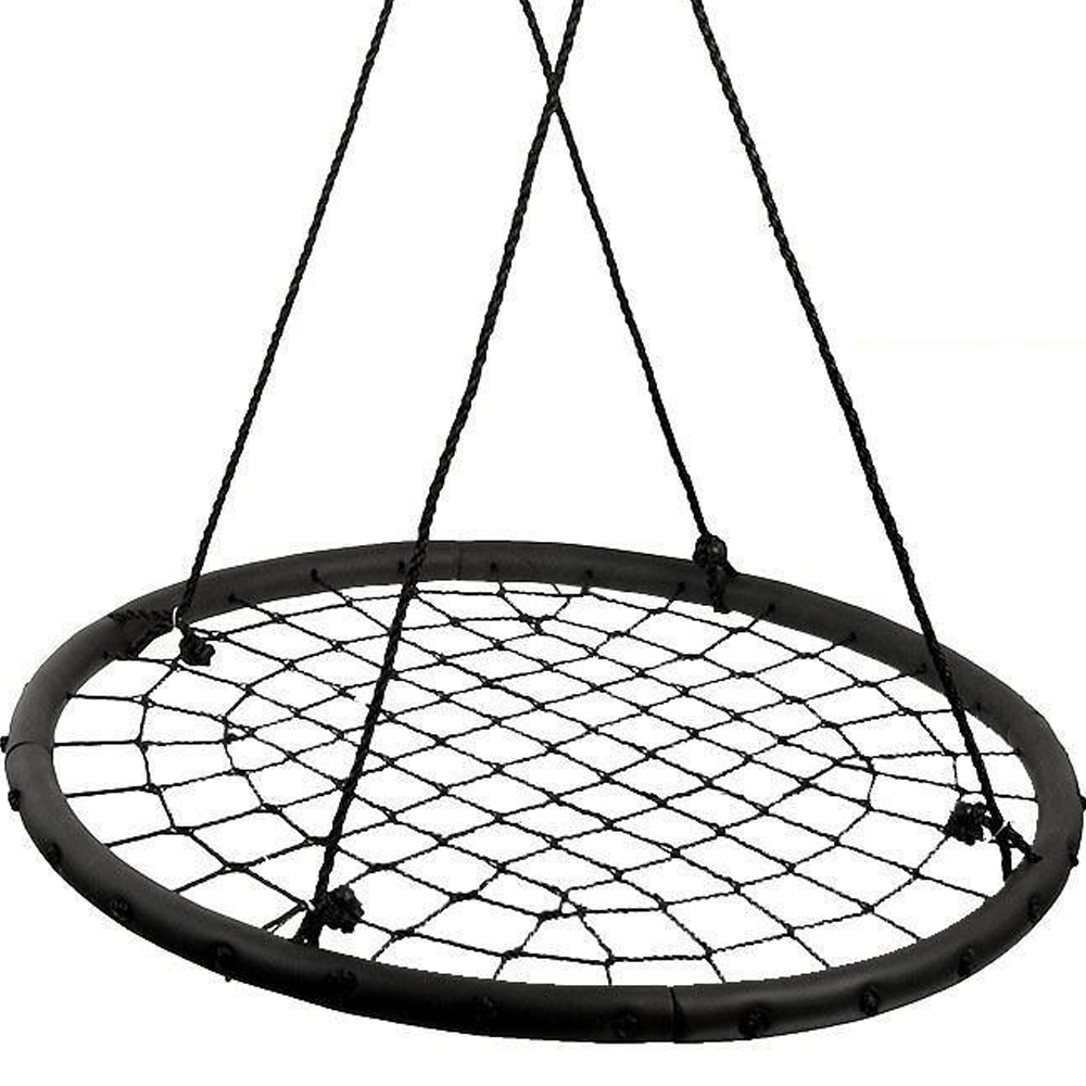 "Image 40"" Children's Tire Spider Web Swing Tree Swings Detachable Playground Platform"